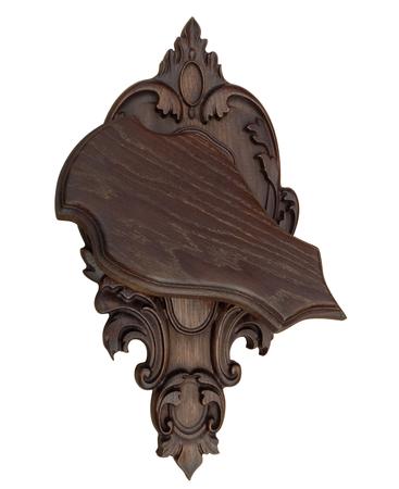 Rzeźbiona deska pod czaszkę rogacza/drapieżnika RKD-06 (1)