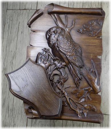 Trójelementowa rzeźbiona podkładka pod drapieżnika #002 (1)